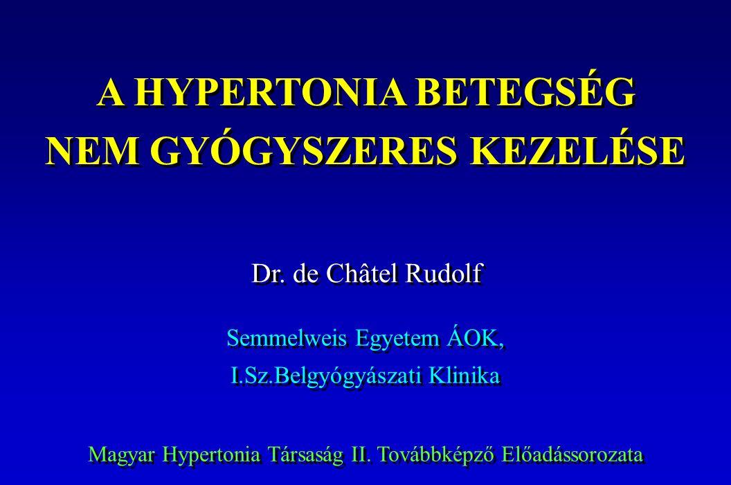 a hipertónia kezelésének integrált megközelítése