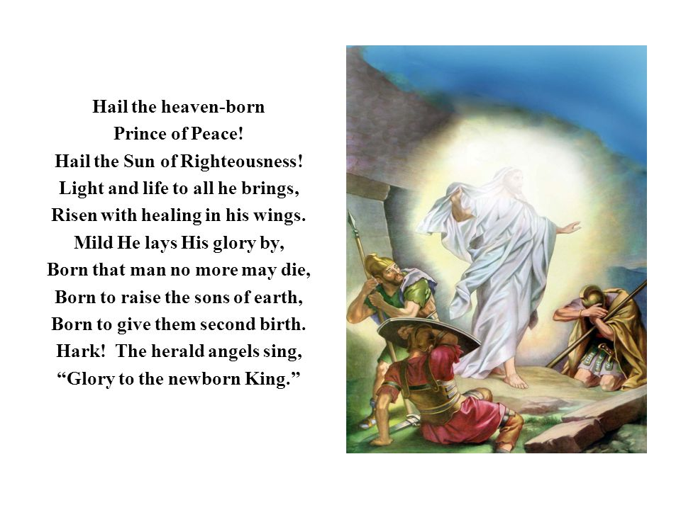 Hail the Sun of Righteousness! Light and life to all he brings,