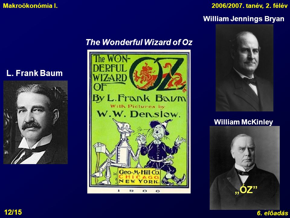 """ÓZ The Wonderful Wizard of Oz L. Frank Baum William Jennings Bryan"