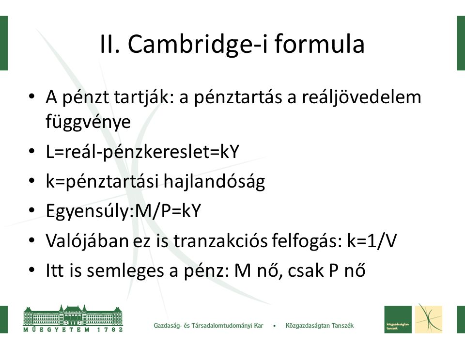 II. Cambridge-i formula