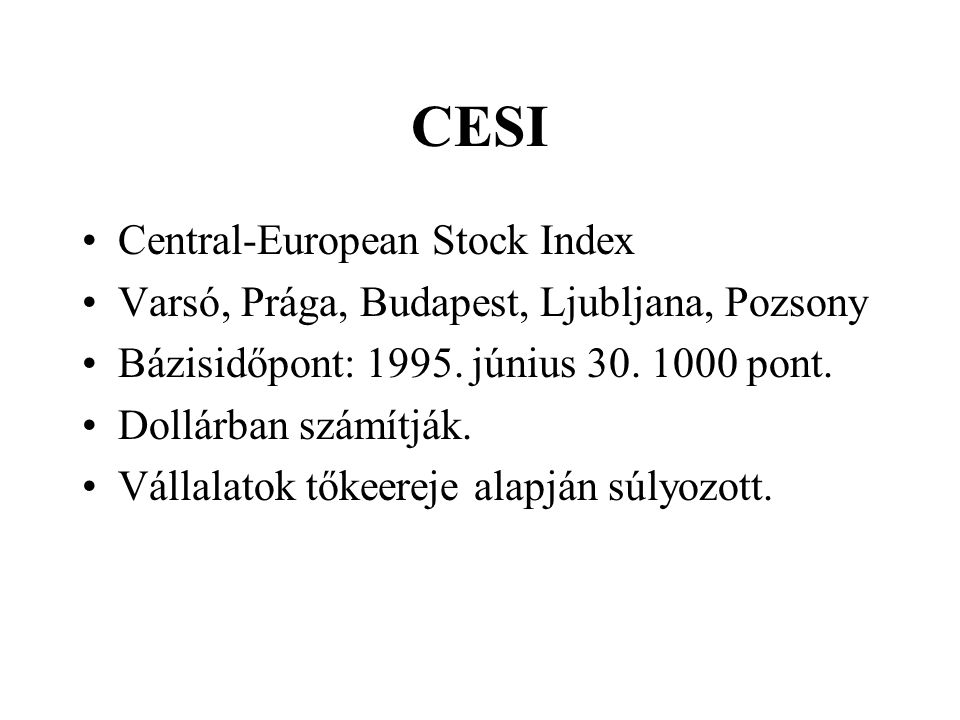 CESI Central-European Stock Index