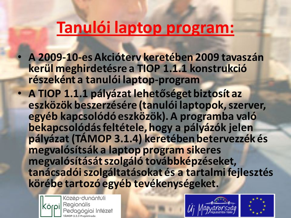 Tanulói laptop program: