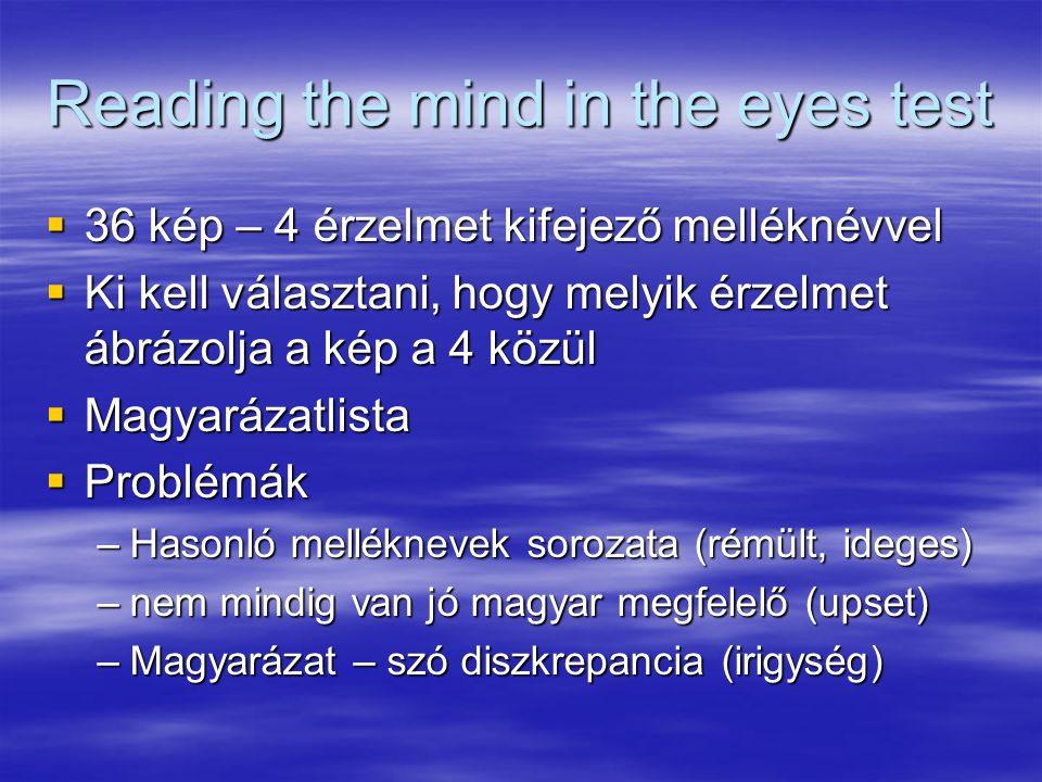 Reading the mind in the eyes test