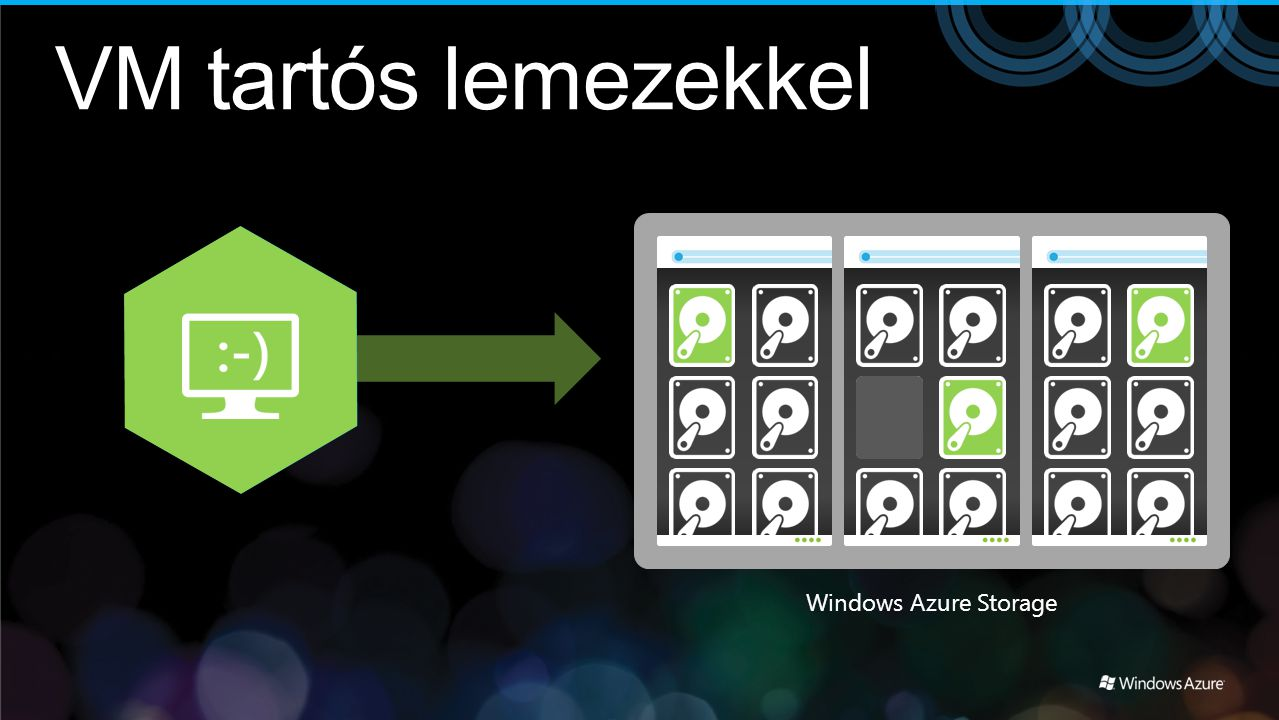 VM tartós lemezekkel Windows Azure Storage