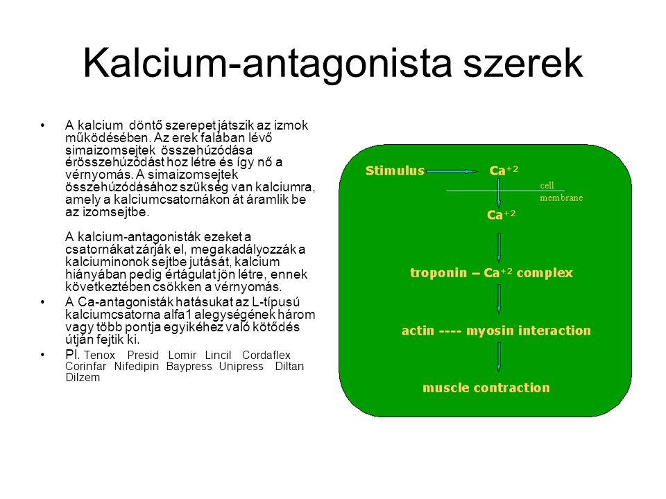magas vérnyomás kalcium antagonisták