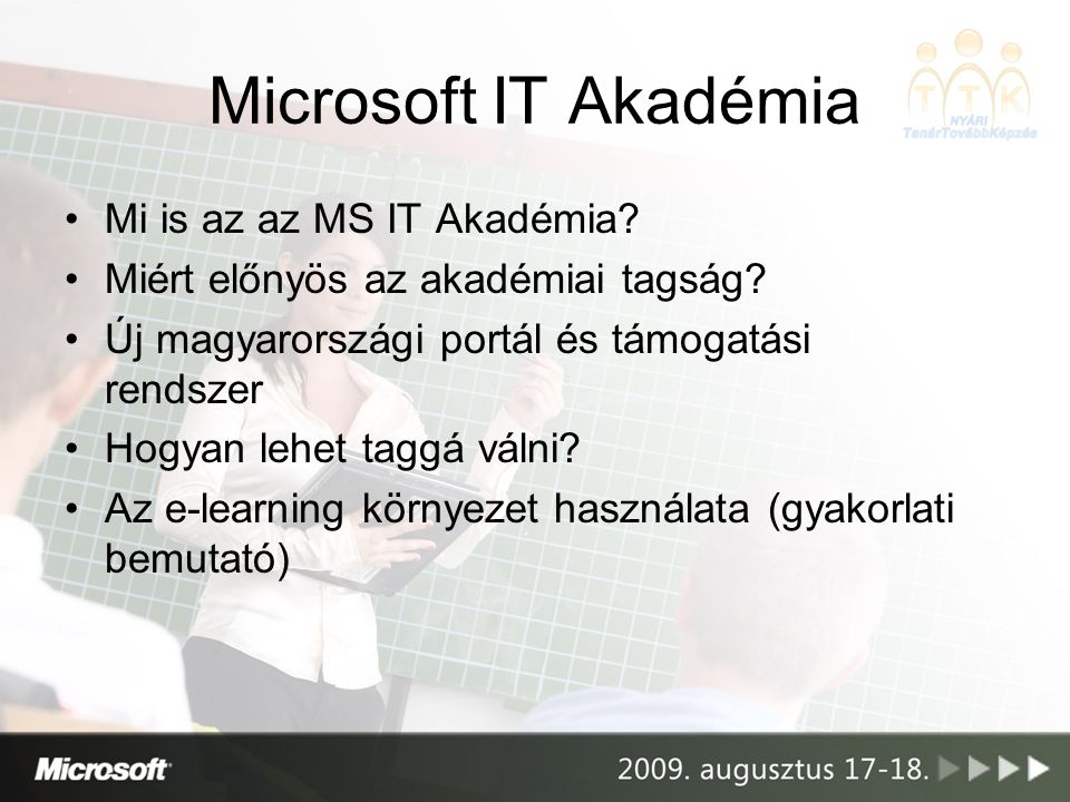 Microsoft IT Akadémia Mi is az az MS IT Akadémia