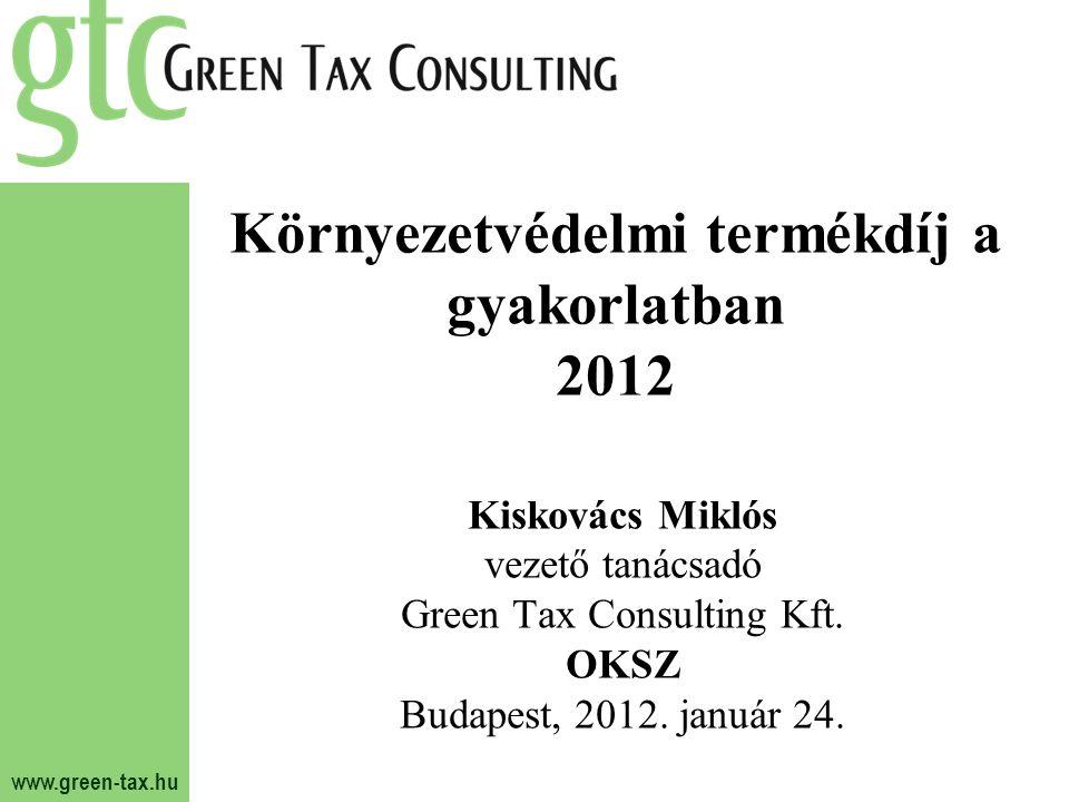 3fea0efb311d Környezetvédelmi termékdíj a gyakorlatban 2012. 2 Áttekintés Csomagolószer?