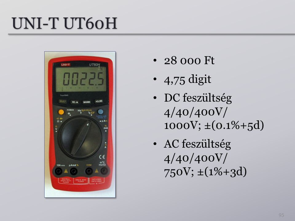 UNI-T UT60H Ft. 4,75 digit.