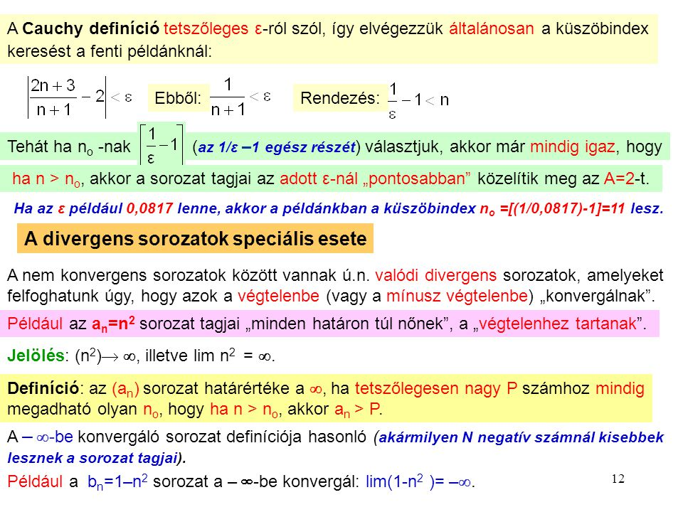 Divergens sorozat példa