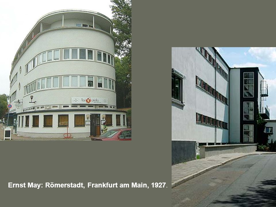 Ernst May: Römerstadt, Frankfurt am Main, 1927.
