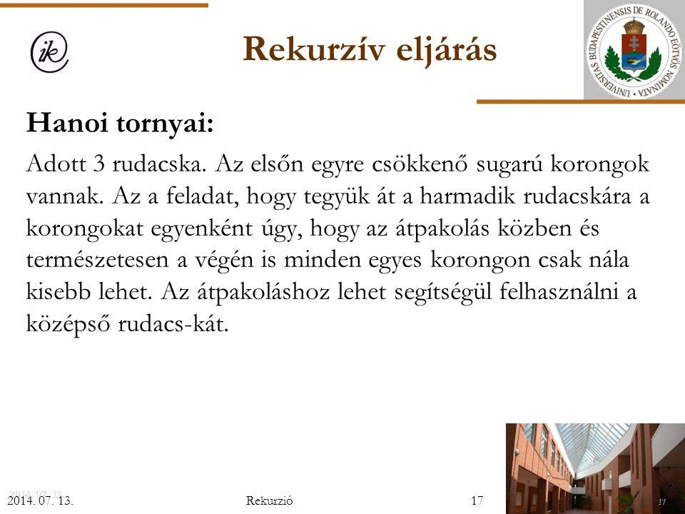 Rekurzió (Horváth Gyula és Szlávi Péter előadásai felhasználásával ... 4984e5b4d2