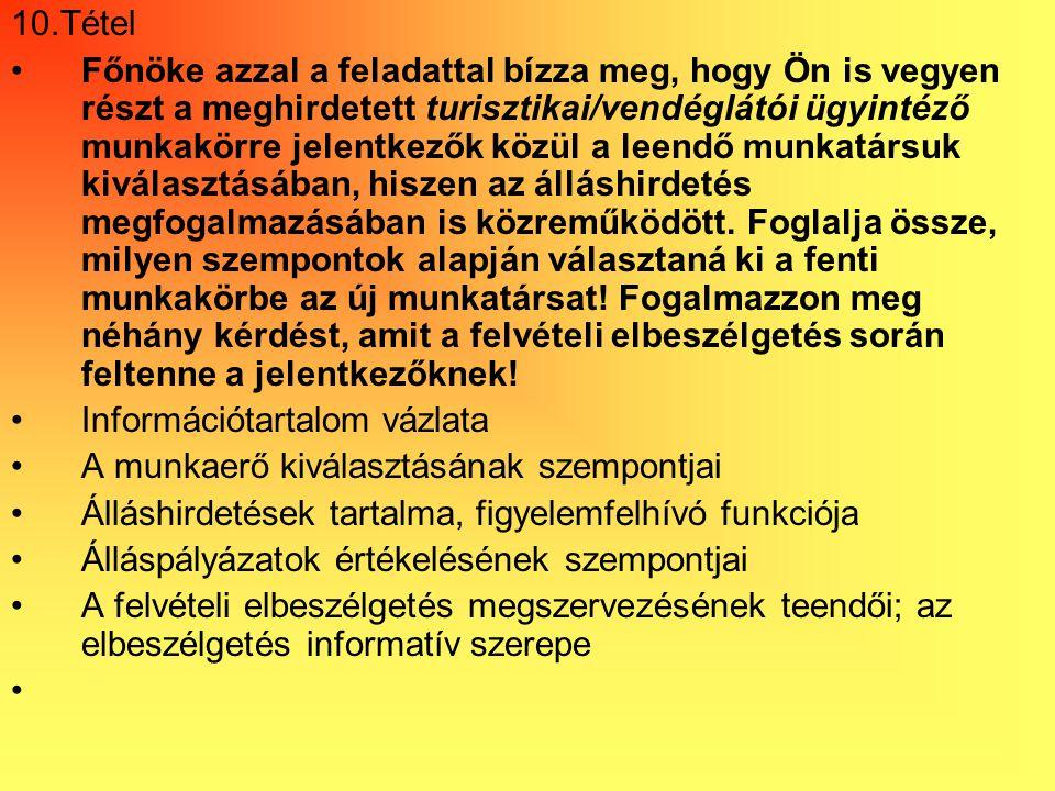 önéletrajz fajtái tétel Vizsgarészhez rendelt követelménymodul azonosítója, megnevezése  önéletrajz fajtái tétel