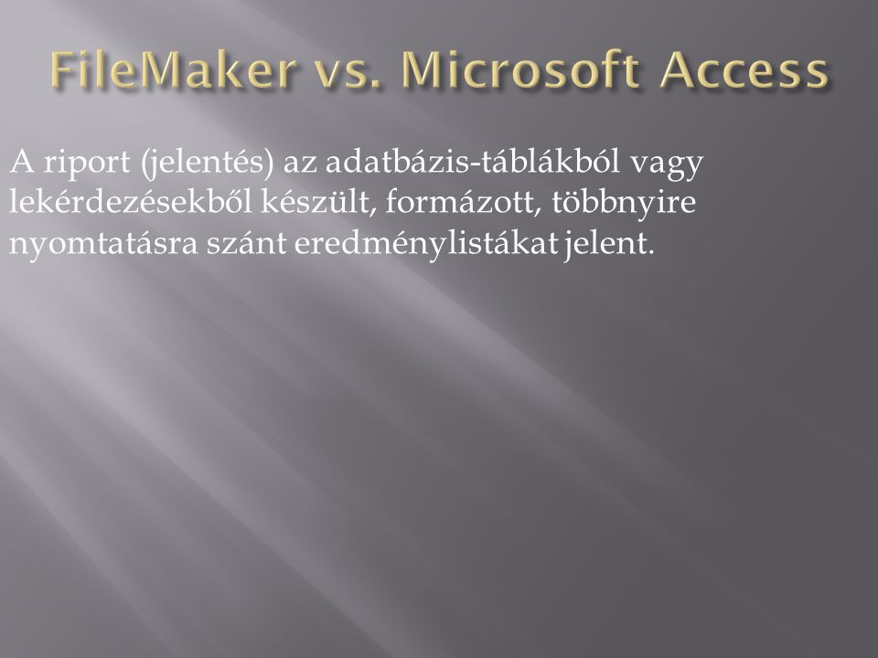FileMaker vs. Microsoft Access
