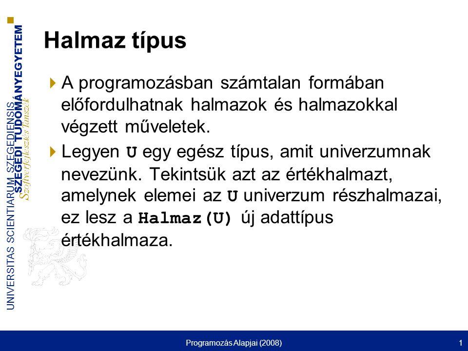 Programozás Alapjai (2008) - ppt letölteni 5fc88bc787