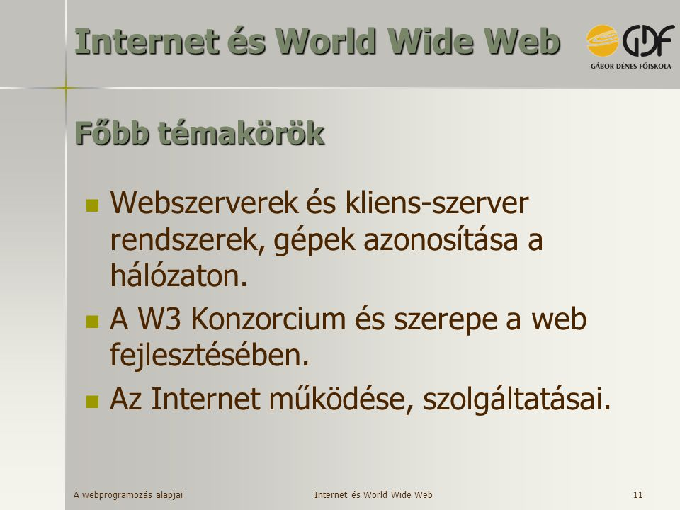 Internet és World Wide Web