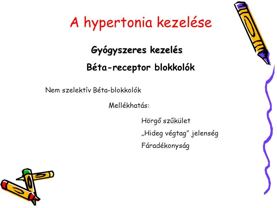 magas vérnyomás kezelése béta-blokkolókkal