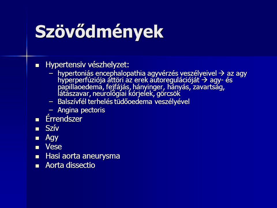 hipertóniás krízis szövődménye)