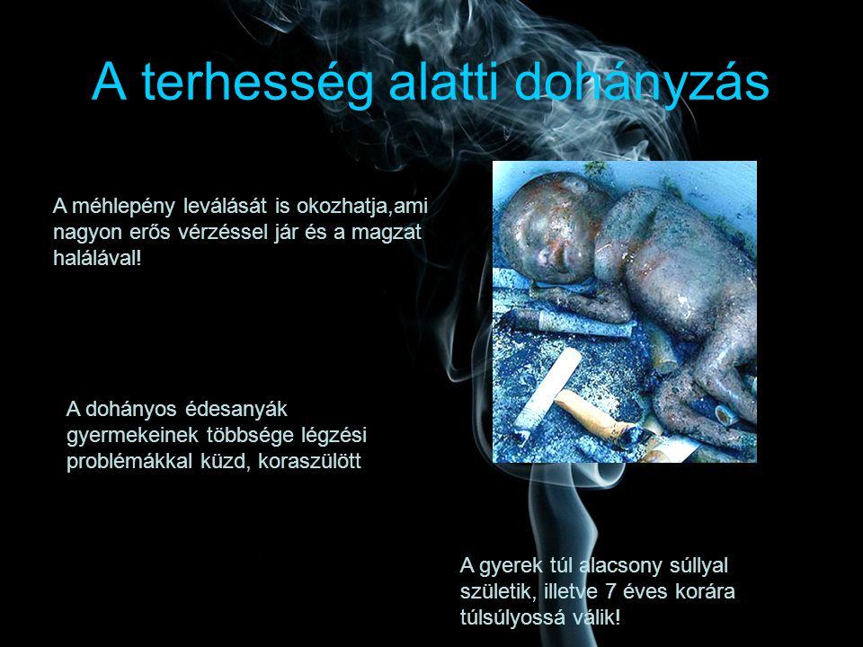 dohányzás terhességi veszély alatt)