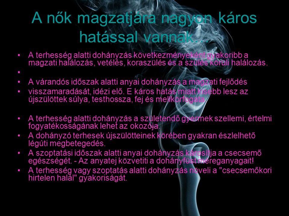 A dohányzás káros az egészségére fotó