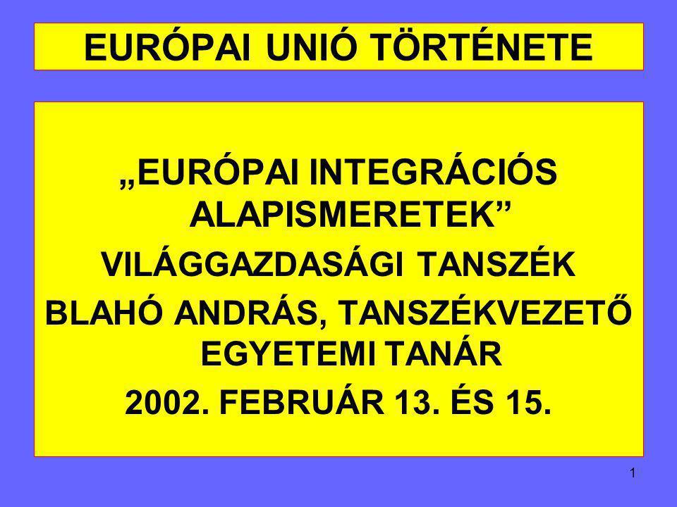 EURÓPAI UNIÓ TÖRTÉNETE - ppt letölteni e9f1a91499