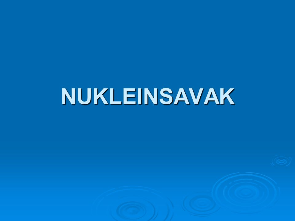 NUKLEINSAVAK