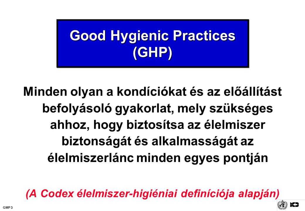 Good Hygienic Practices (GHP)