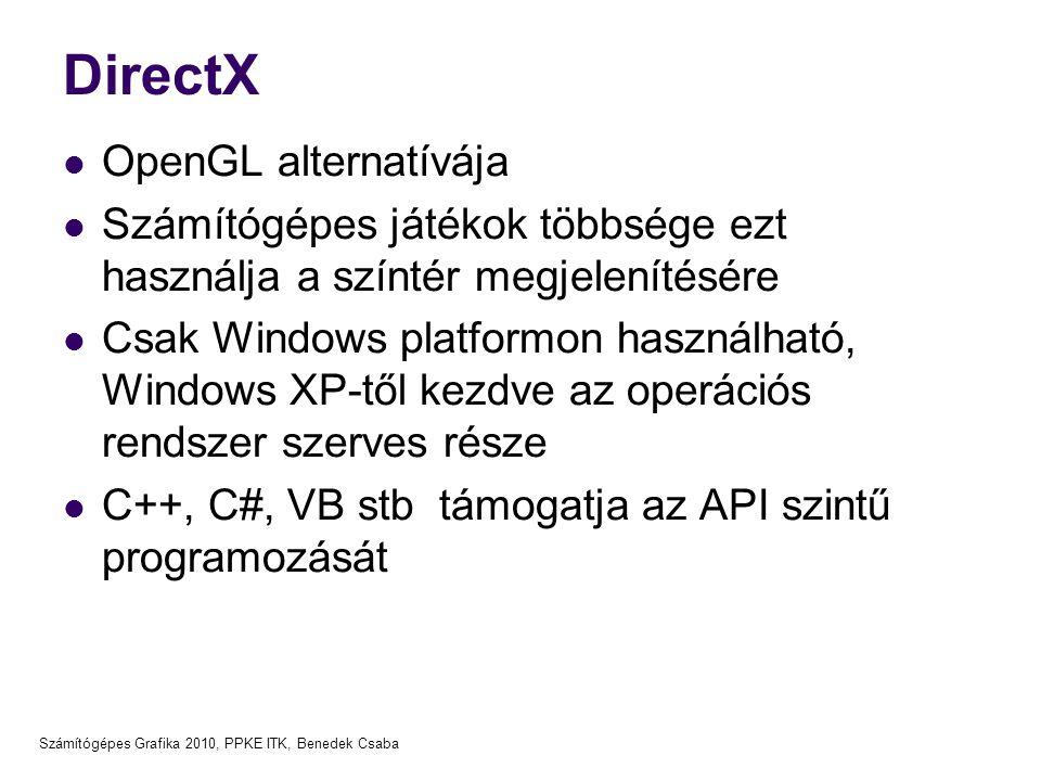Grafikus szoftver alrendszer, OpenGL alapok - ppt letölteni