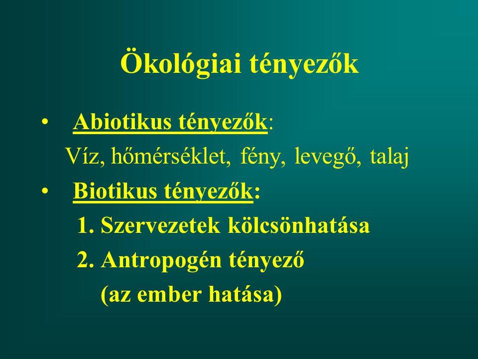 paraziták abiotikus tényezők