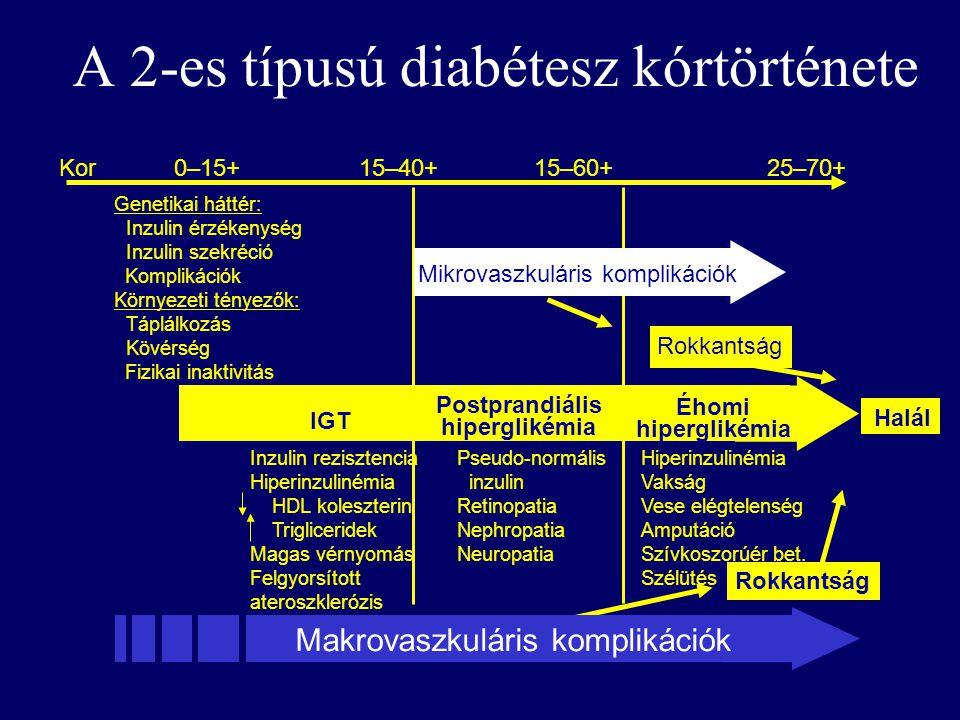 a 2-es típusú cukorbetegség és a magas vérnyomás kórtörténete
