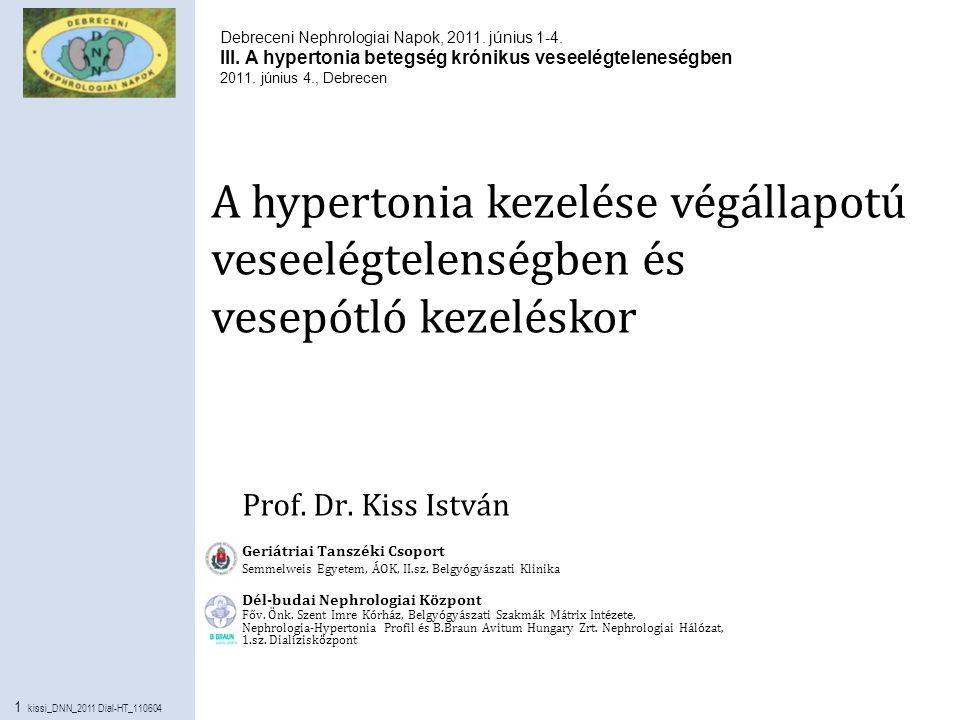 A hipertónia 3 csoportja)