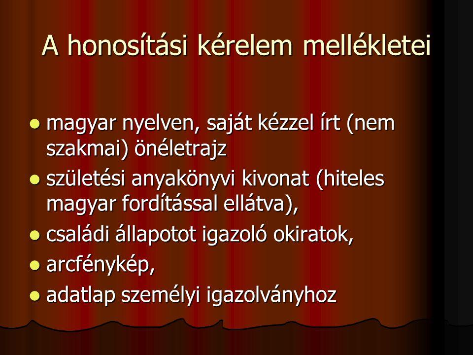 nem szakmai önéletrajz minta honosítás A magyar állampolgárság   ppt letölteni nem szakmai önéletrajz minta honosítás