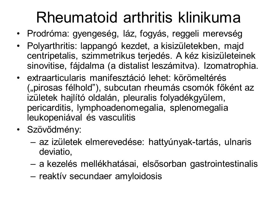 fogyás arthritis reumatoid