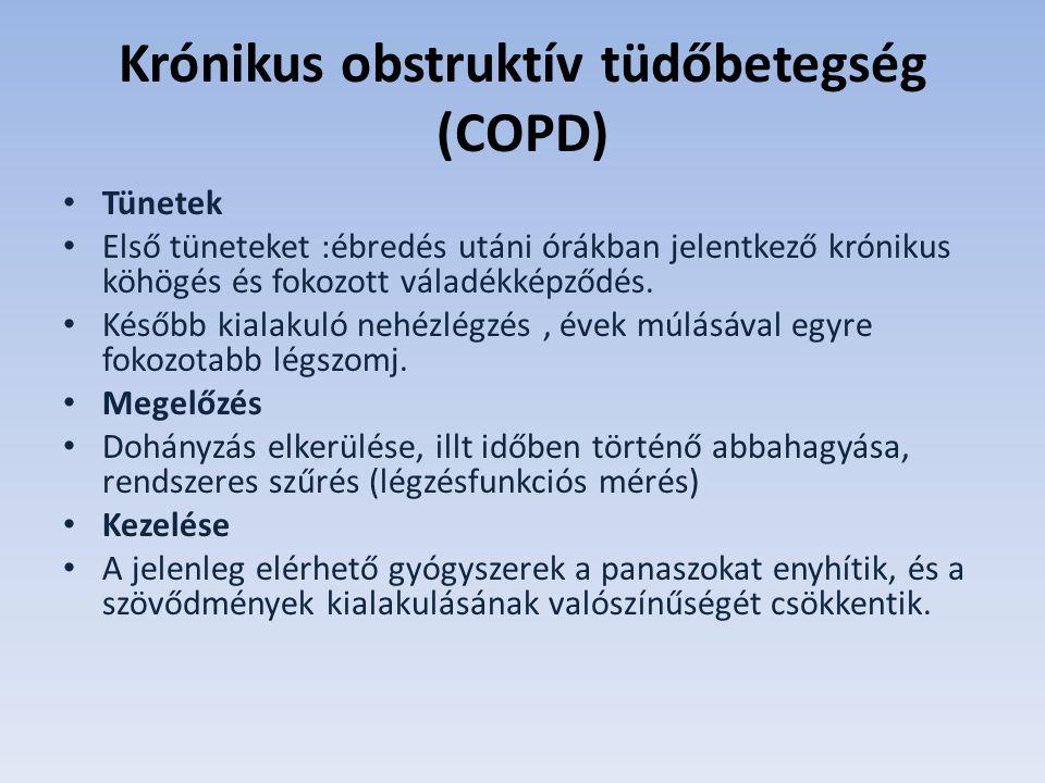 dohányzás és krónikus obstruktív tüdőbetegség)