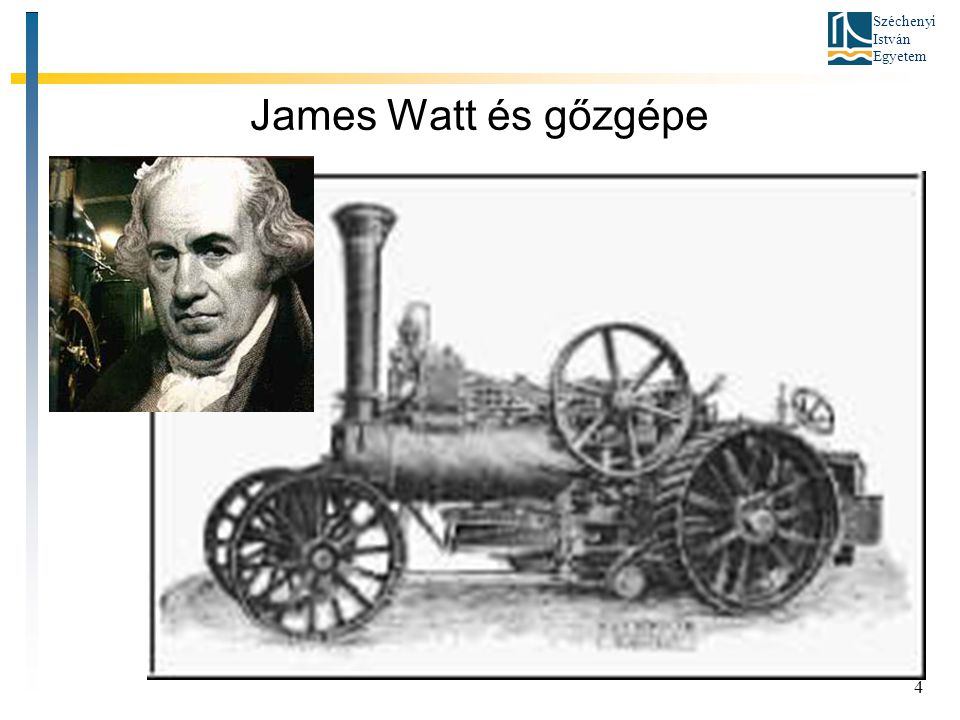 James Watt és gőzgépe