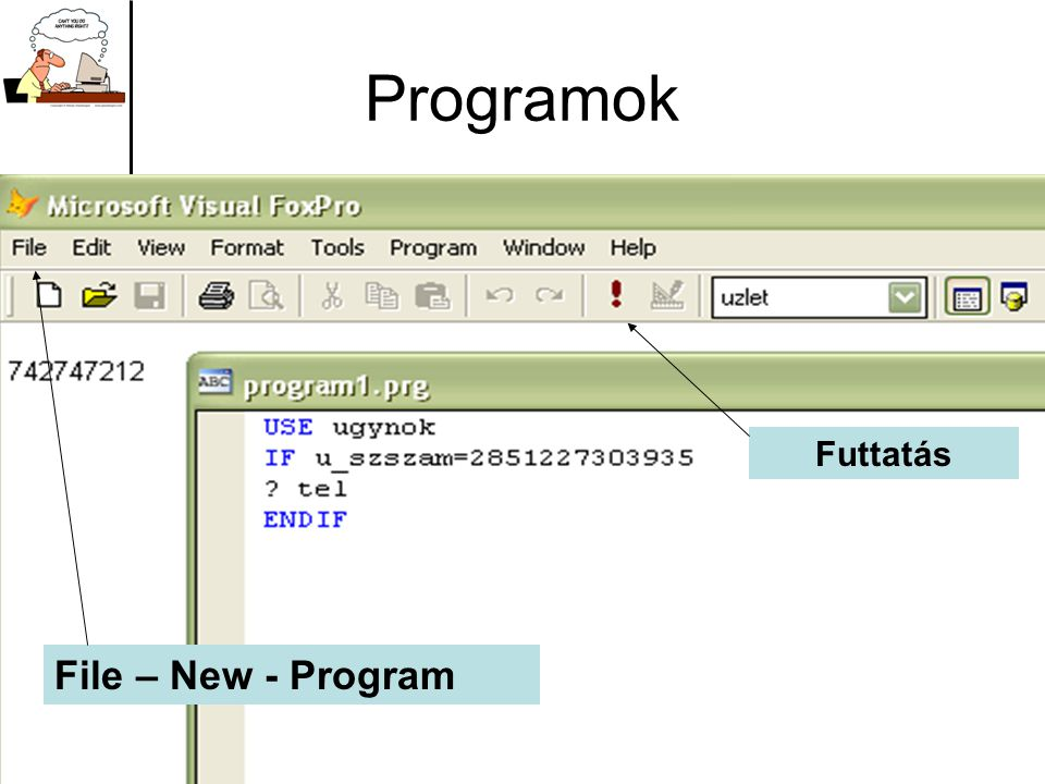 Programok Futtatás File – New - Program