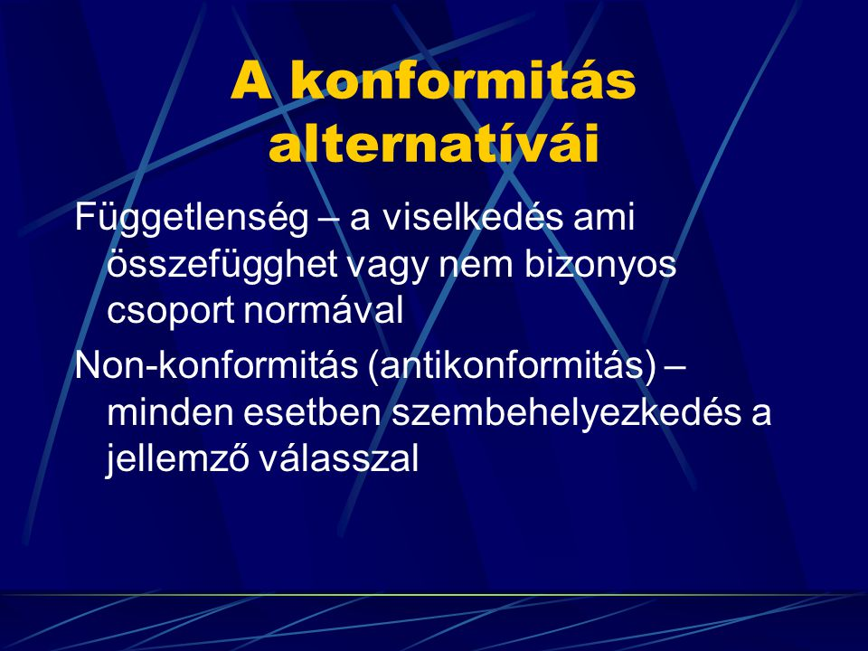 A konformitás alternatívái