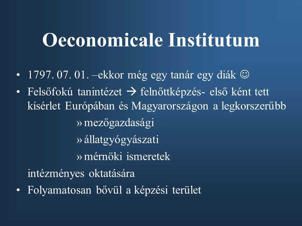 Oeconomicale Institutum