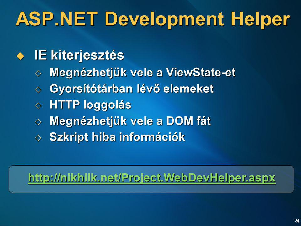 ASP.NET Development Helper