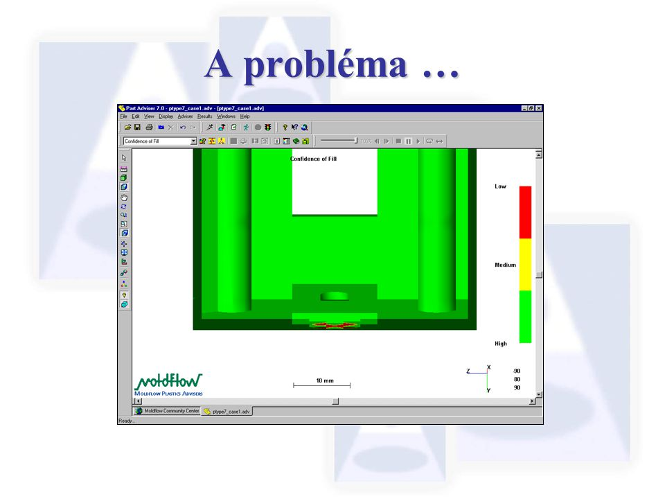 A probléma … Using the Zoom facility and Clipping plane tools we can inspect the thin section in detail ….