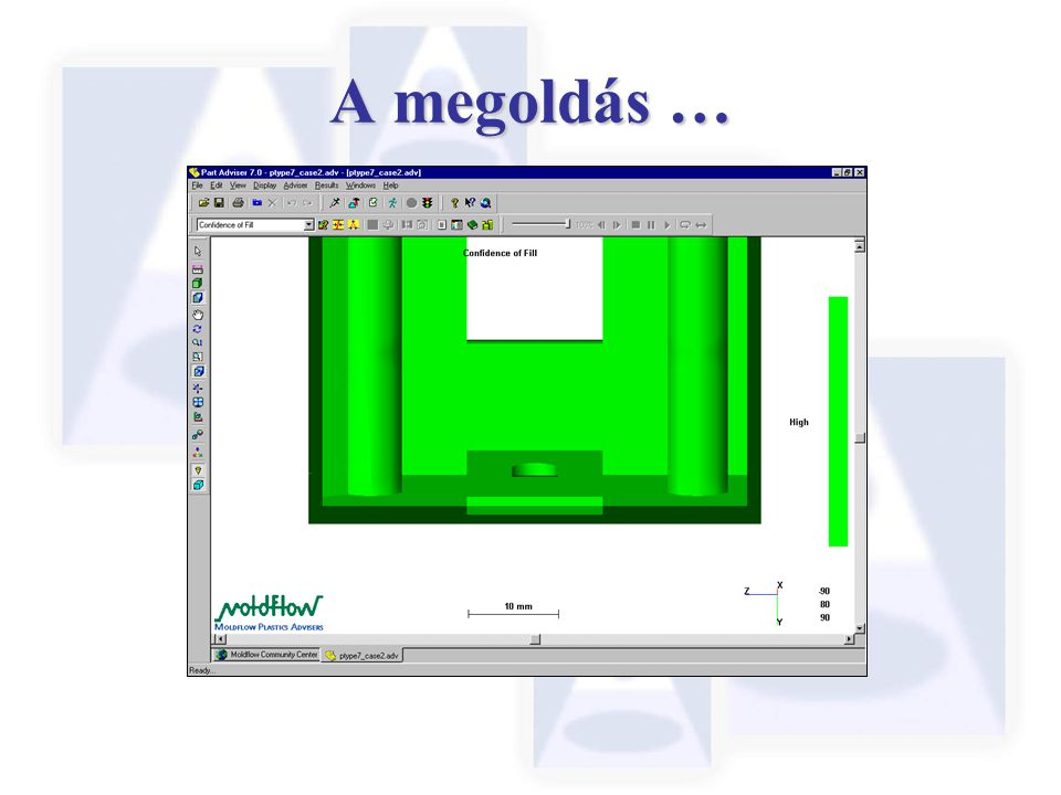 A megoldás … For the purposes of our demonstration, our proposed solution is to remove the thin section.