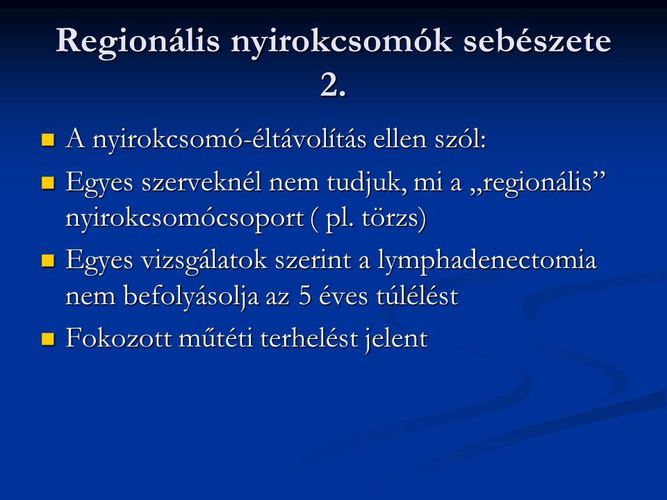 végbélrák regionális nyirokcsomók