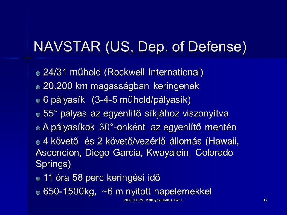 NAVSTAR (US, Dep. of Defense)