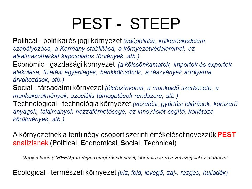 PEST - STEEP