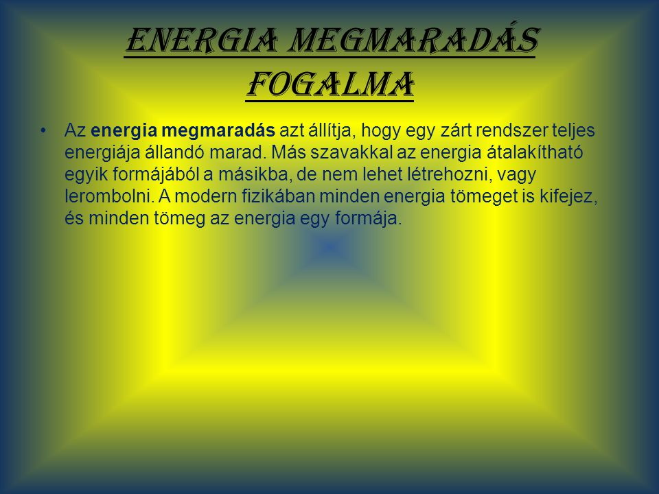 Az energia formái