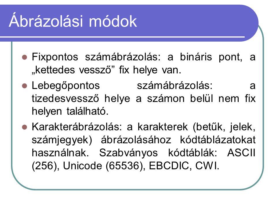 operatív üzenetek bináris lehetőségek)