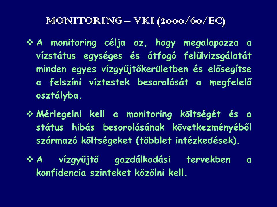 MONITORING – VKI (2000/60/EC)