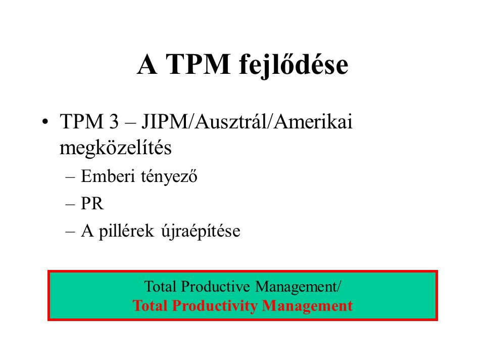 Total Productivity Management