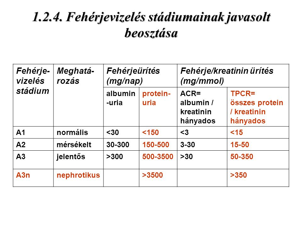 vizelet fehérje kreatinin arány)