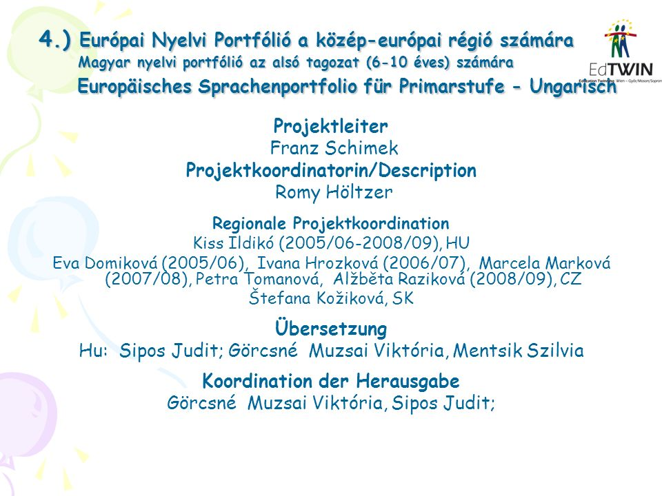 Projektkoordinatorin/Description Koordination der Herausgabe